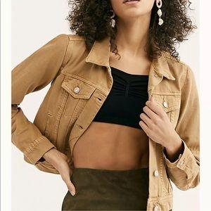 NWT Free People rumors denim warms sands jacket xs